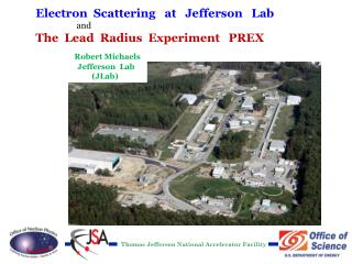 Electron  Scattering   at   Jefferson   Lab  and The  Lead  Radius  Experiment   PREX