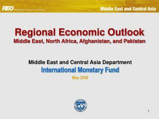 Regional Economic Outlook Middle East, North Africa, Afghanistan, and Pakistan