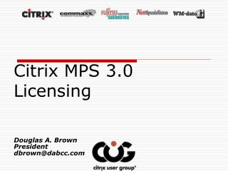 Citrix MPS 3.0 Licensing