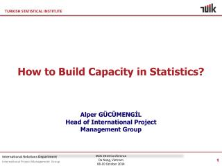 How to Build Capacity in Statistics? Alper GÜCÜMENGİL Head of  International Project