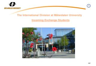 The International Division at  Mälardalen  University Incoming Exchange Students