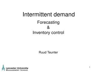 Intermittent demand
