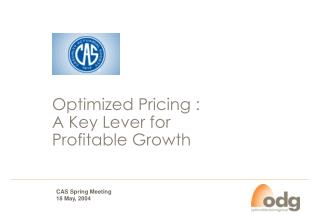 Optimized Pricing : A Key Lever for  Profitable Growth
