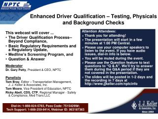 Enhanced Driver Qualification – Testing, Physicals and Background Checks