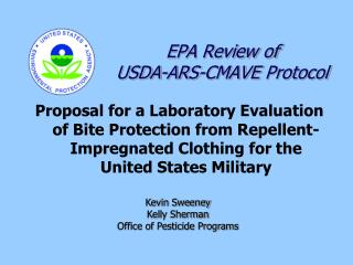 EPA Review of  USDA-ARS- CMAVE  Protocol