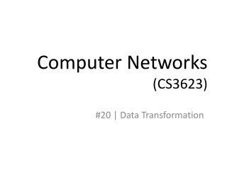 Computer Networks (CS3623)