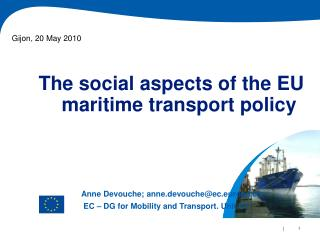 The social aspects of the EU maritime transport policy