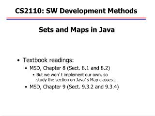 CS2110: SW Development Methods