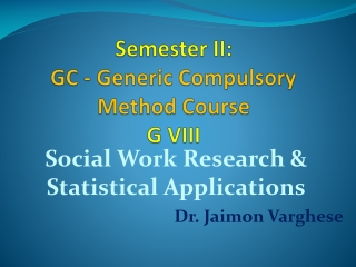 Social Work Research I: Alternative Sources of Data