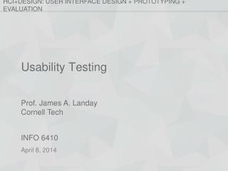 Usability Testing