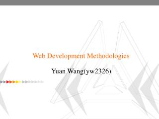 Web Development Methodologies