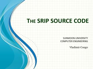 The SRIP SOURCE CODE