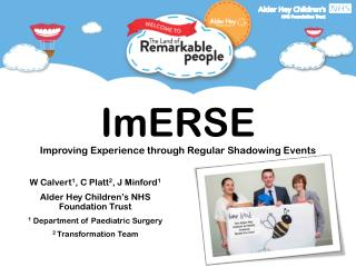 ImERSE Improving Experience through Regular Shadowing Events