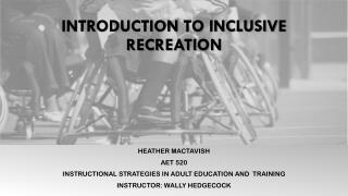 Introduction to Inclusive Recreation