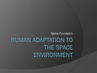 Human Adaptation to the Space Environment