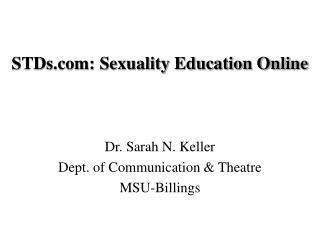 STDs.com: Sexuality Education Online