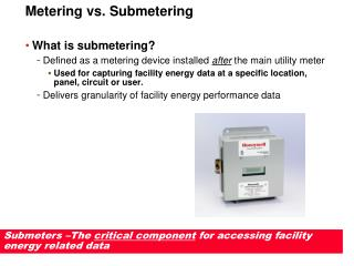 Metering vs. Submetering