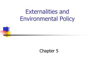 Externalities and Environmental Policy