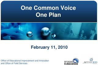 One Common Voice One Plan
