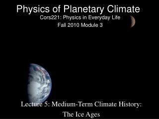 Physics of Planetary Climate