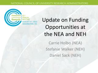 Update on Funding Opportunities at the NEA and NEH