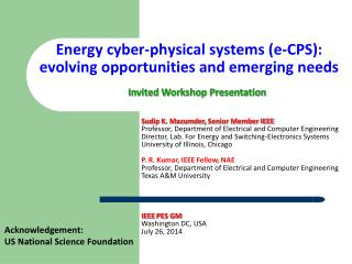 Energy cyber-physical systems (e-CPS): evolving opportunities and emerging needs
