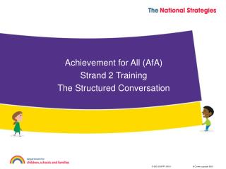Achievement for All (AfA) Strand 2 Training The Structured Conversation
