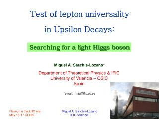 Test of lepton universality in Upsilon Decays: