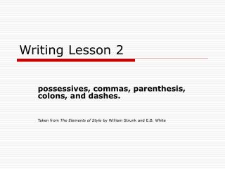 Writing Lesson 2