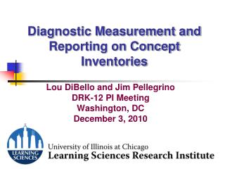 Diagnostic Measurement and Reporting on Concept Inventories
