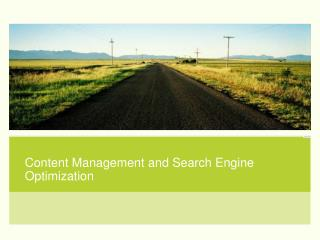 Content Management and Search Engine Optimization