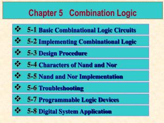 Chapter 5   Combination Logic