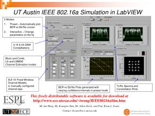 UT Austin IEEE 802.16a Simulation in LabVIEW