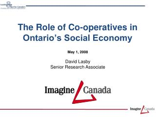 The Role of Co-operatives in Ontario's Social Economy
