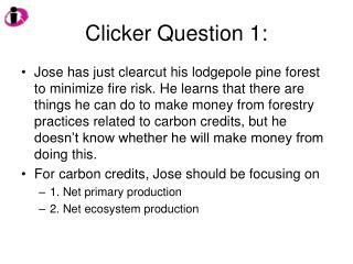 Clicker Question 1: