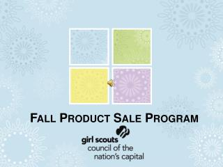 Fall Product Sale Program