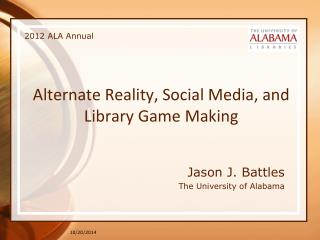 Alternate Reality, Social Media, and Library Game Making