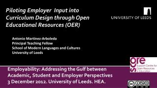 Employability: Addressing the Gulf between Academic, Student and Employer Perspectives