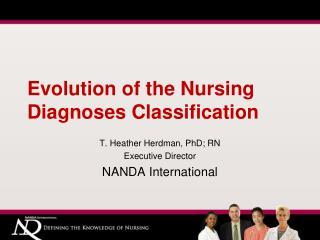 Evolution of the Nursing Diagnoses Classification