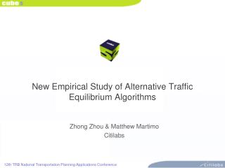 New Empirical Study of Alternative Traffic Equilibrium Algorithms