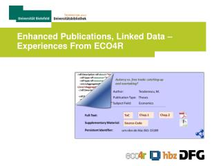 Enhanced Publications, Linked Data – Experiences From ECO4R