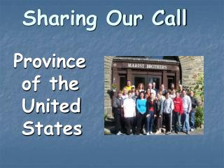 Sharing Our Call
