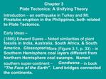 Chapter 3 Plate Tectonics: A Unifying Theory