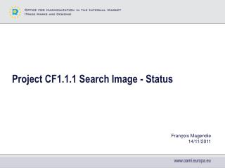 Project CF1.1.1 Search Image - Status