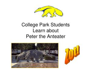 College Park Students Learn about  Peter the Anteater