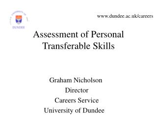 Assessment of Personal Transferable Skills