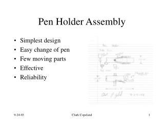 Pen Holder Assembly
