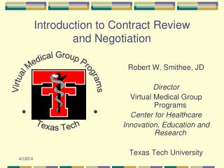 Introduction to Contract Review and Negotiation