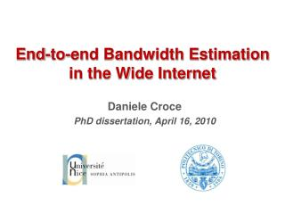 End-to-end Bandwidth Estimation in the Wide Internet