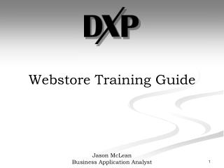 Webstore Training Guide